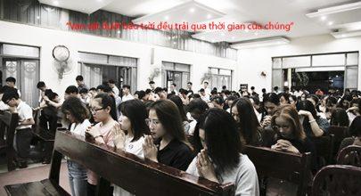 Sống niềm tin vào Thiên Chúa, cầu nguyện