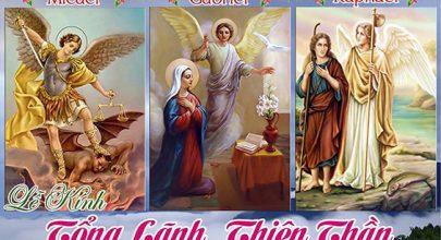 tong lanh thien than micael 29-09, lễ thánh micael